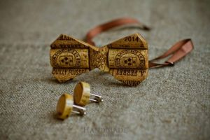 """Wooden bow tie cork """"Hipster style"""""""