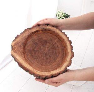"""Wooden fruit basket """"Oak strength"""""""