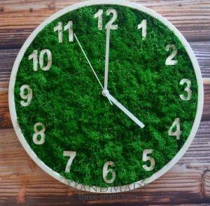"Wooden wall clocks ""Green day"""