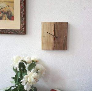 "Woodsman clock wall decal ""Minimal art"""