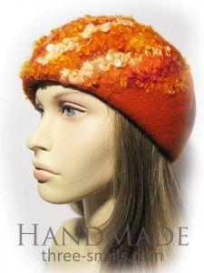 "Wool beret hat ""Sunny curls"""