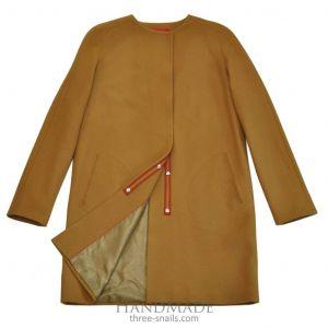 "Wool coat ""Mustard"""