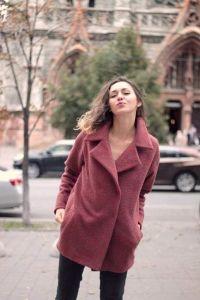 """Wool coat """"Velvet Season"""""""