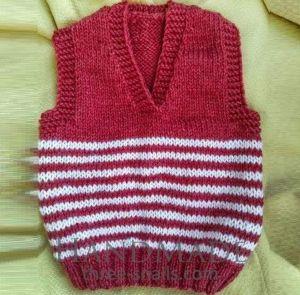 """Woolen vest for kid """"Berry"""""""