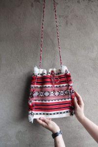 "Woven handbags ""Geometric pattern"""