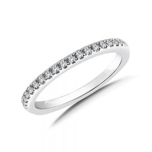Gold half diamond eternity band 0.18 carat