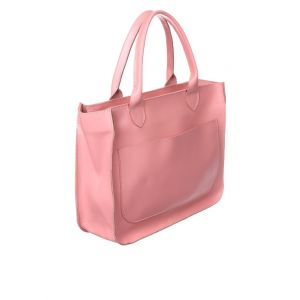 Leather pink tote