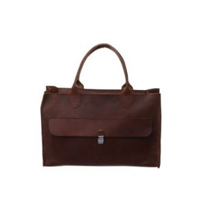 Dark brown ladies handbag