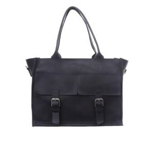 Large black tote with zipper