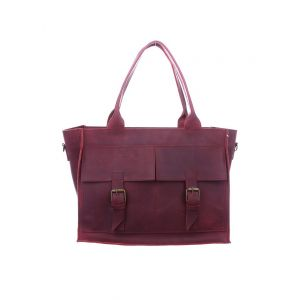 Burgundy designer purse