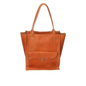 Large tan leather bag