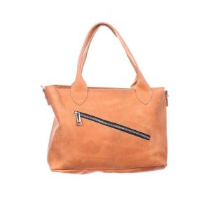 Peach leather handbag