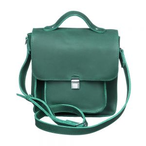 Square leather crossbody bag
