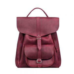 Women's leather rucksack