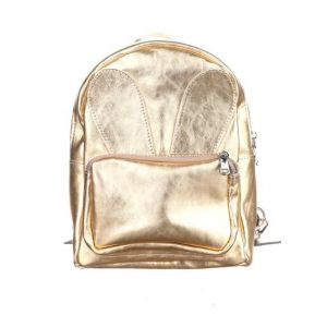 Gold backpack purse
