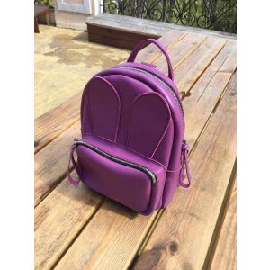 Purple leather backpack
