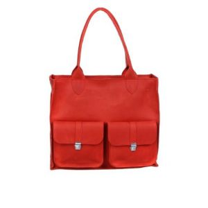 Red leather work bag