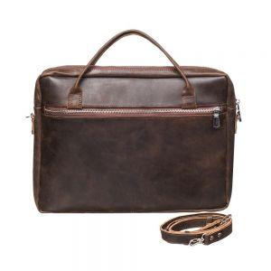 Mens brown shoulder bag