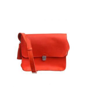 Orange leather purse