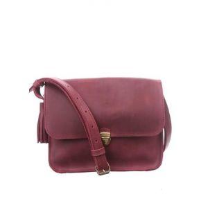 Genuine leather shoulder purse