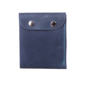 Thin leather card wallet