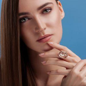 Bohemian diamond encrusted ring