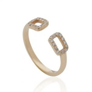 14K gold diamond apex ring