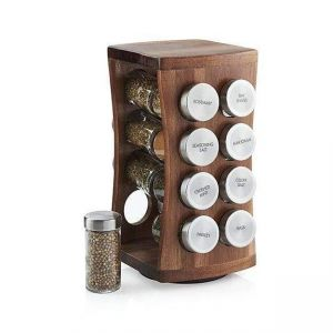 16-Jar Wood Spice Rack