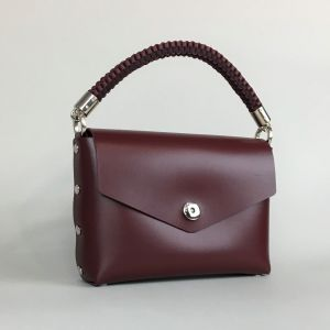 Burgundy leather mini bag
