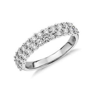 Ladies wide diamond wedding band 1.150 carat