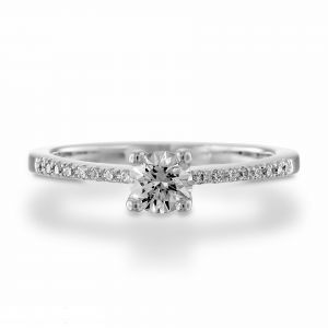 Women's gold diamond ring 0.53 carat