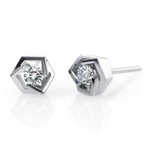 White goold diamond earrings for women