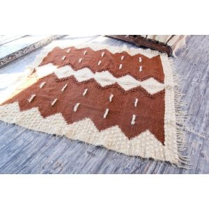 Large brown accent rug