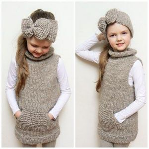 Girls knitted set