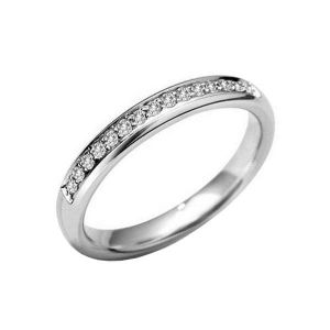 Gold wedding diamond band 0.15 carat