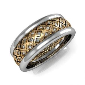 A band for women with white and black diamonds