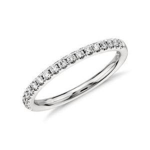Gold half diamond eternity band 0.25 carat