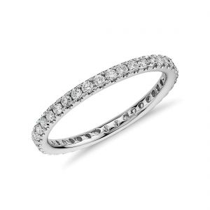 White gold diamond wedding ring for her 0.500 carat