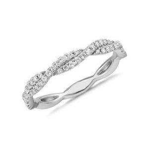 Twisted eternity ring diamond 0.5 carat