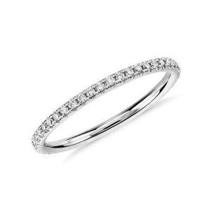 Gold diamond wedding ring for her 0.250 carat