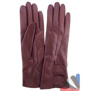 Burgundy leather gloves