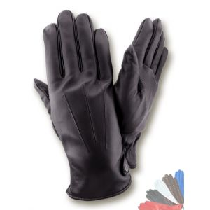 Warm leather gloves