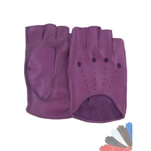 Womens fingerless leather gloves