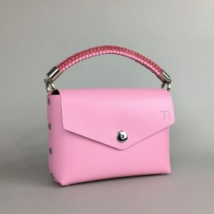 Pink leather mini bag