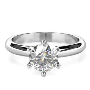 Women's diamond band ring 1 carat