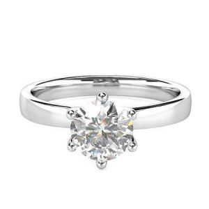 Gold diamond engagement ring 1 carat