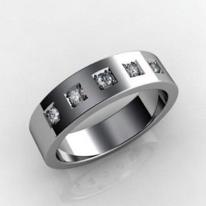 Gold diamond wedding band for him