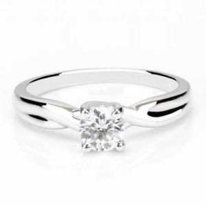 Gold diamond rings for women 1 carat