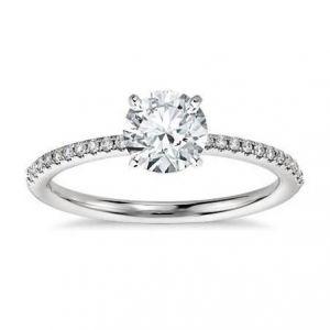 Gold diamond ring for ladies 1 carat