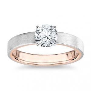 Gold diamond ring 1 carat